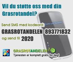 Grasrotandelen SMS