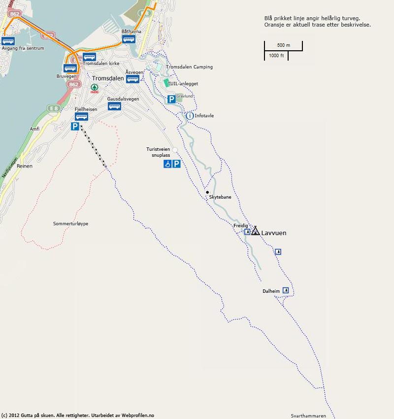 tromsø bussruter kart Bussrute 20 og 24 fra Tromsø sentrum | Gutta på Skauen | Lavvuen i  tromsø bussruter kart