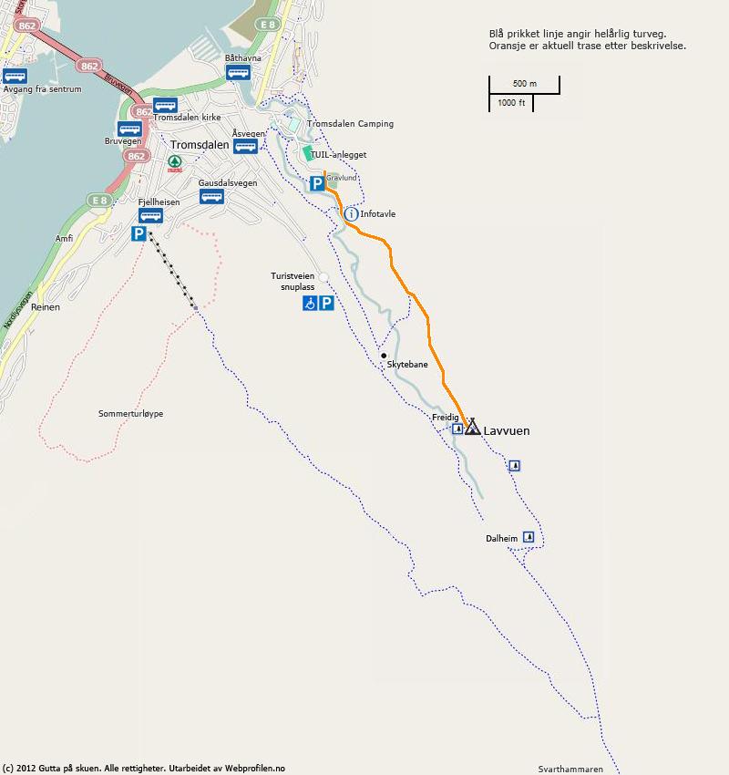 Kart Tuil-anlegget til Lavvuen